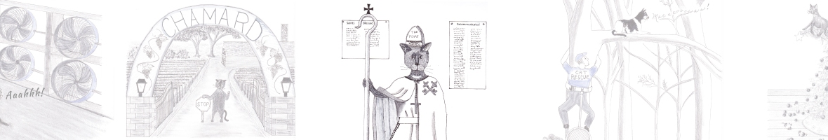Roman Catholic the Cat as the Pope
